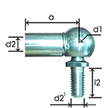 Angle ball joints DIN71802CS or similar, steel zinc plated 1